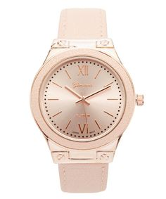 Look at this Blush & Rose Gold 45 mm Watch on #zulily today!
