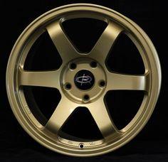 17X9 ROTA GRID 5X114.3 +42 GOLD WHEEL FITS RSX TSX TL CAMRY MAXIMA