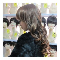 Wig Long Curled Hair Cap Light Brown - Default Title