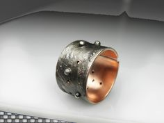 Vesdna Kolobaric  by VESNAmanJEWELRY on Etsy - #grunge mixed metal #men #ring #contemporary #jewelry, #gift for him