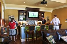 Like the idea of a small TV in the bar area