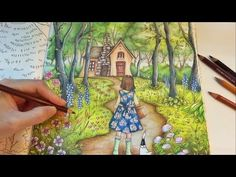 Into The Forest | Romantic Country Coloring Book | Coloring With Colored Pencils - YouTube