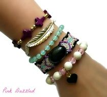 Golden Feather and Cross Friendship Arm Candy Bracelet Set