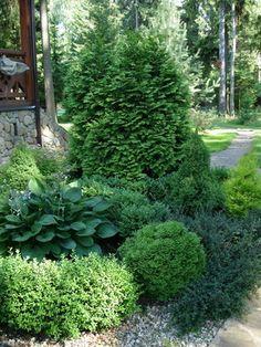 Steep Gardens, Small Gardens, Outdoor Gardens, Garden Pavilion, Garden Gates, Sloped Garden, Garden Beds, House Landscape, Landscape Design