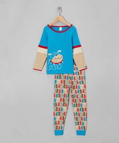 Take a look at this Blue & Red Bulldog Top & Pants - Infant & Toddler by Sozo on #zulily today!