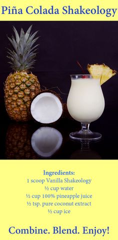 If you like Pina Coladas...but hate all the calories that usually comes along with them, then you'll love this lighter Shakeology version that only has 169 calorie! #ThirstyThursday #recipes #shakeology #drinks #PinaColadas #healthrecipes #beachbody #beachbodyblog