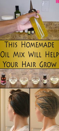 This Homemade Oil Mix Will Help Your Hair Grow - She Made by Grace