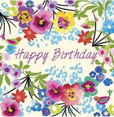 Happy birthday pretty flowers