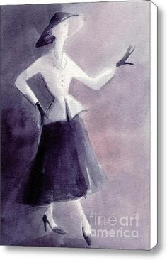 Inspired by Christian Dior Fashion Illustration « Impulse Clothes