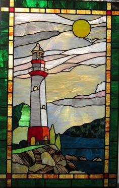 Atlantic lighthouse by spectrum stained glass