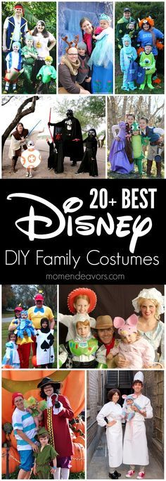 20+ BEST DIY Disney Family Themed Halloween Costumes!