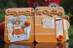 using paint chips to create a mini scrapbook