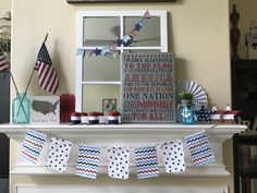 Patriotic Mantle: Memorial Day, Fourth of July American Flag