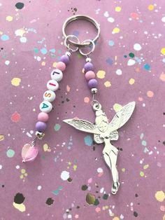 Tassel Bookmark, Beaded Bookmarks, Beaded Jewelry, Handmade Jewelry, Beaded Bracelets, Diy Bag Charm, Tinkerbell Gifts, Personalised Keyrings, Cool Keychains