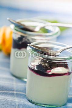 Joghurt mit selbstgepflückten Blaubeeren