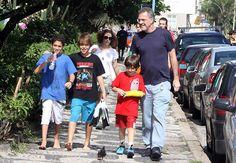 Filhos e colegas dos filhos de Pedro Bial