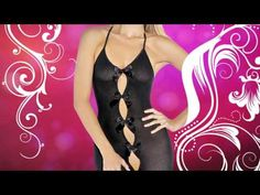 The sexy Halterneck Bodystocking Lingerie is crotchless with a convenience opening and is available at Passion Parties by Laurie www.lauriespassion.com