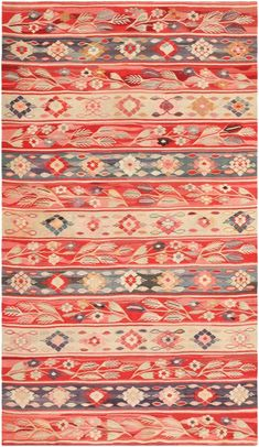 Antique Romanian Bessarabian Kilim 46904 by Nazmiyal Antique Rugs and carpet gallery.