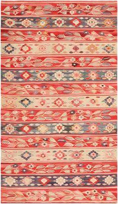 Antique Romanian Bessarabian Kilim Rug ~ I LOVE the Romanian traditional designs, wow...