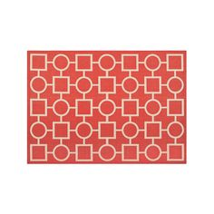 Safavieh Courtyard Geometry Indoor Outdoor Rug, Red, Durable