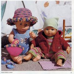 Albumarkiv Knitting Dolls Clothes, Knitted Dolls, Doll Clothes, Doll Patterns, Knitting Patterns, Baby Born Clothes, Baby Barn, Ag Dolls, Diy Doll