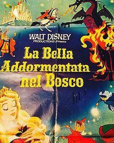 MANIFESTO Cinema WALT DISNEY La bella addormentata nel bosco Anni 60 140x100 | eBay