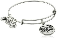 St Joan Of Arc Charm On A Child Sized 5 3//4 Inch Oval Eye Hook Bangle Bracelet