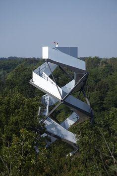Arquitectura al Dia: Terrain en Austria: torre mirador junto al Río Mur