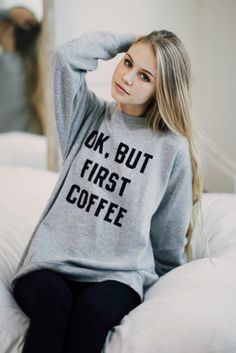 BrandyMelville Erica But First Coffee Sweatshirt Found on my new favorite app Dote Shopping #DoteApp #Shopping