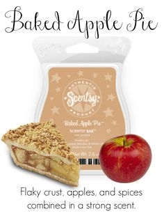 Baked Apple Pie Contact me for new products, sales, and even FREE samples!   www://Blissfragrance.scentsy.us/