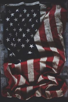 Vintage Weathered American Flag found in our shop!