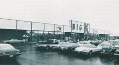 Retro Memories - exterior shot of Big K Discount Store in Dickson, TN. Blue Law, Retail Signs, Beautiful Girl Body, 16 Year Old, Back In The Day, Historical Photos, Vintage Shops, Rome, The Past