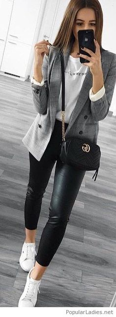 Amazing sport office casual look