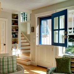 Dutch Door miss having one of thesedutch door by jolene  This would be great to keep the dogs inside  . Dutch Doors Exterior With Screen. Home Design Ideas
