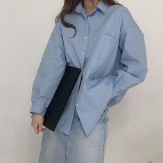 Minimal Style, Minimal Fashion, Polo Shirt Girl, Shirts For Girls, Korean Fashion, Raincoat, Lifestyle, How To Wear, Jackets