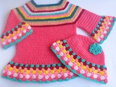 Crochet - Crosia Free Patttern Urdu, Hindi Video Tutorials: Crochet Girl Sweater