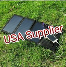 Phone Portable 5W 5V Solar Panel Power Charger Hiking Battery USA Supplier Usb