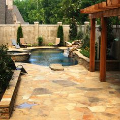 east memphis geometric pool spa design traditional pool other metro j small backyard poolssmall backyardssmall