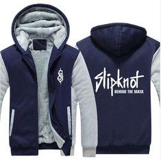 USA SIZE Men Hoodies Slipknot Punk Heavy Music Rock Roll Band Coat Winter Fleece Thicken Hoodies Unisex Jacket