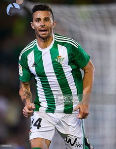 Ruben Castro of Real Betis Balompie reacts during the match between Real Betis…