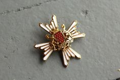 Vintage Bretagne a ma Vie Brooch // Brittany by SpiralCreations