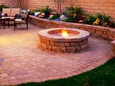 Retaining Walls and Fire-Pits transitional-landscaping-stones-and-pavers