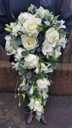 Cascade wedding bouquet By Sarah Kellys Flower Room