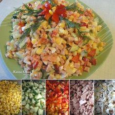 """6 отметок «Нравится», 1 комментариев — Простые Рецепты/Кулинария (@povar_bloger) в Instagram: « Салат """"Разноцветный""""  ПОНАДОБИТСЯ 1 баночка консервированной кукурузы 1 красный болгарский перец…»"""