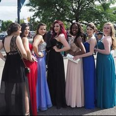 Squad Prom Slayed | Instagram photo by mobergers - some squad from prom Prom Goals, Bridesmaid Dresses, Wedding Dresses, Squad, Instagram, Fashion, Bridesmade Dresses, Bride Dresses, Moda