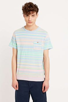 Shore Leave by Urban Outfitters Simpson Stripe Tee in Pink