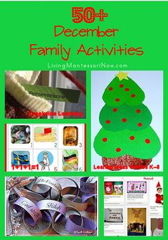 Huge roundup of over 50 December family activities, including Christian Christmas activities, secular Christmas activities, and Christmas countdown activities.