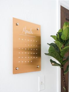 A DIY copper message board to help keep you organized.