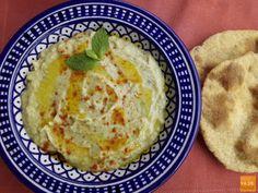 Babaganoush o Mutabal Ahumado Yummy Appetizers, Appetizer Recipes, Baba Ganoush, Antipasto, Hummus, Pesto, Veggies, Food And Drink, Dishes