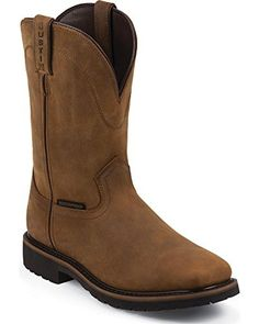 Jow Men's Justin Original Work Boot Worker Square Toe Brown 6.5 EE US - Brought to you by Avarsha.com